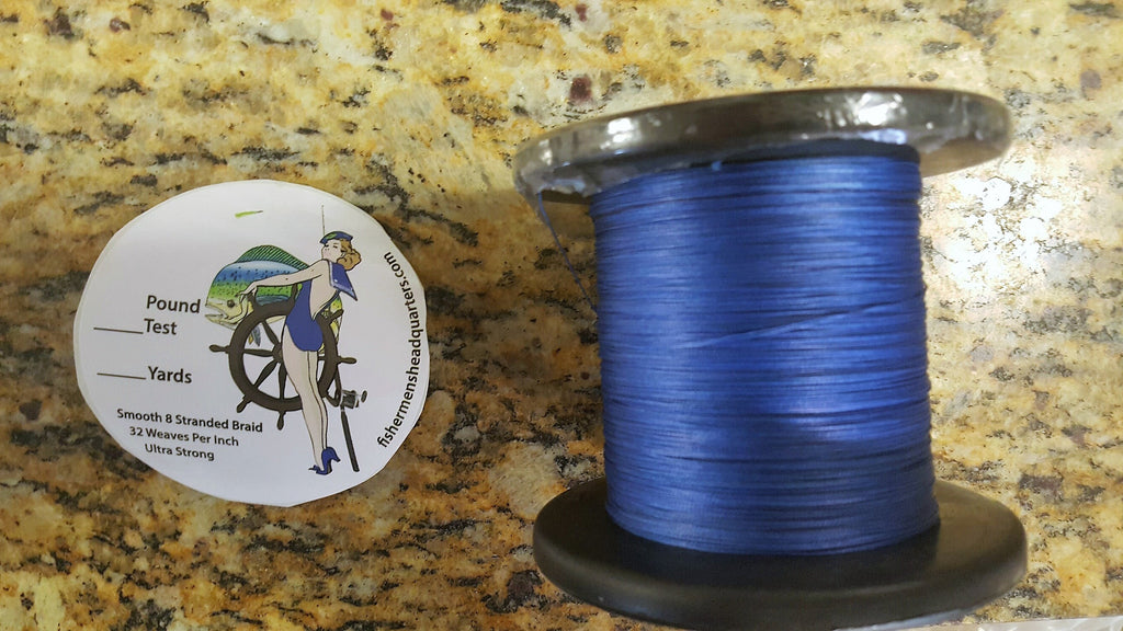 545 yard spools Fishermen's Headquarters Braided line - FISHERMEN'S HEADQUARTERS