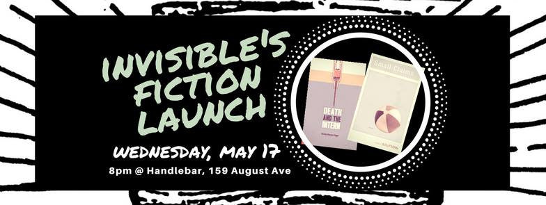 My Toronto book launch is May 17 at Handlebar with Andrew Kaufman