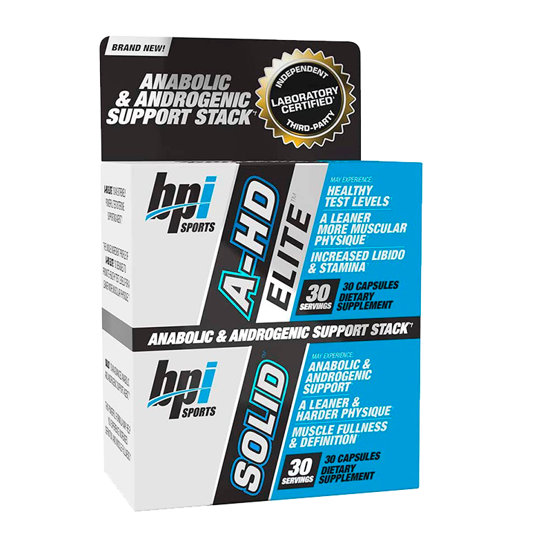 Bpi Sports A-HD Elite / Solid Aumento Natural Testosterona 30 Cápsulas Precursor Natural Testosterona onelastrep.cl