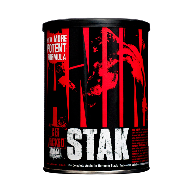 Universal Nutrition Animal Stak Precursor Natural Testosterona 21 Packs