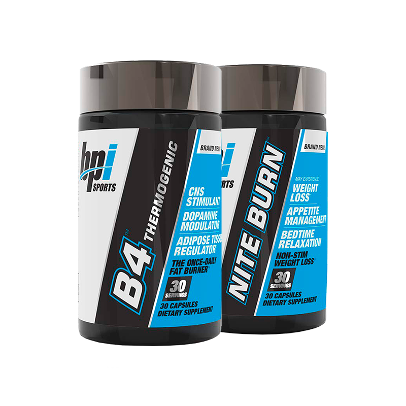 Bpi Sports All-Day Weight Loss Stack B4 + Niterburn Quemadores de Grasa