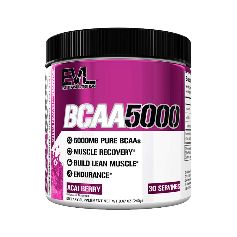 Evlution Nutrition BCAA5000 Powder Post-Workout 30 Servicios BCAA's onelastrep.cl