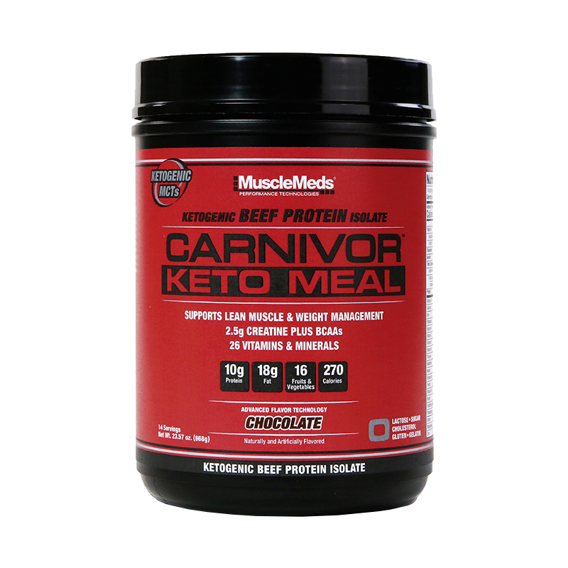 MuscleMeds Carnivor Keto Meal Reemplazo Comida Cetogenica 14 Servicios Proteínas onelastrep.cl