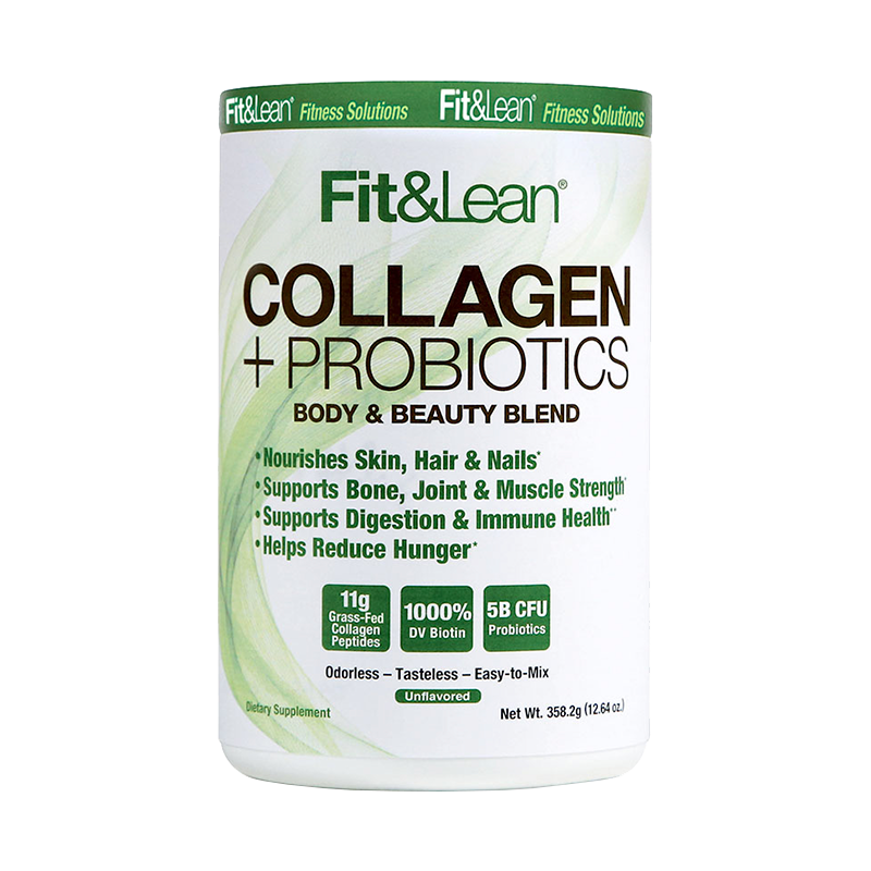 Fit & Lean Collagen + Probiotics Colageno 30 Servicios Colágeno onelastrep.cl