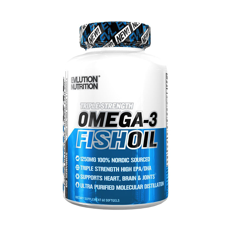 Evlution Nutrition Omega-3 Fish Oil 60 Softgels Fish Oil, Flax Oil, Omegas onelastrep.cl