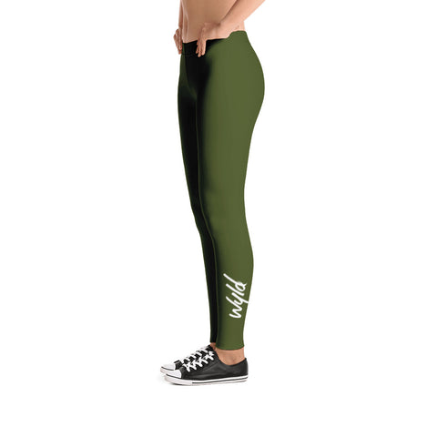 SYMPLY WYLD LEGGINGS - FOREST GREEN