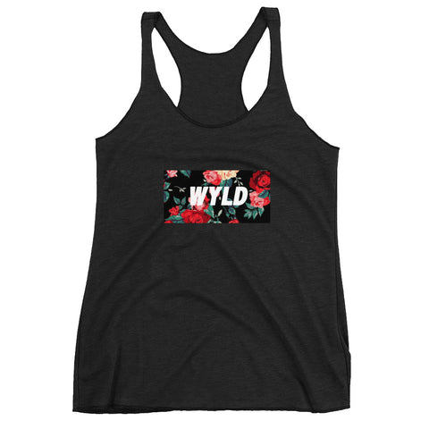 WYLD BLACK FLORAL WOMENS TANK