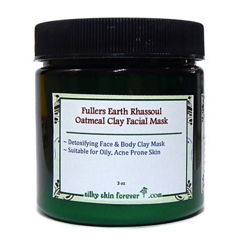 Fullers Earth Rhassoul Oatmeal Face Clay Mask