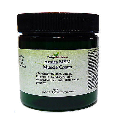 Arnica MSM Muscle Cream - with Peppermint Eucalyptus Ginger