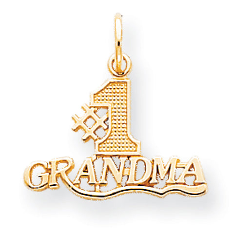 10k Yellow Gold #1 Grandma Pendant