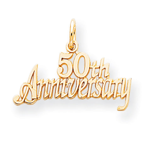 10k Yellow Gold 50th Anniversary Pendant