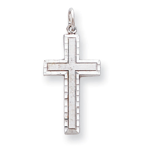10k White Gold CROSS CHARM