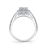 Plat White Platinum 2.01 Ct. Gorgeous Halo Engagement Ring with Fantastic Round Cut Diamonds