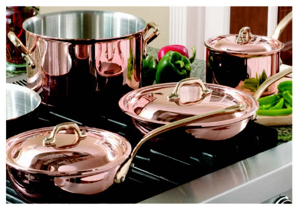 Polished Brass and Copper Cookware