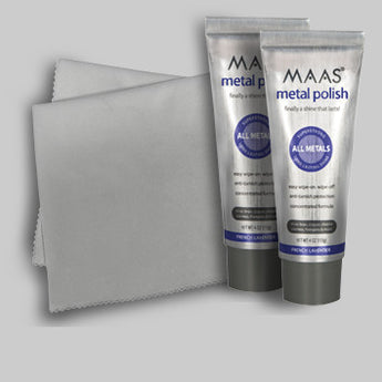 Two tubes Maas Polish and polishing cloth