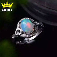100% Natural fire opal gems ring Genuine Solid 925 sterling silver precious stone gold plated woman fine colored stones jewelry