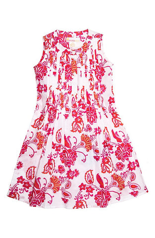 'Bistro' Print Fit & Flare Dress (Toddler Girls, Little Girls & Big Girls) - Brides & Bridesmaids - Wedding, Bridal, Prom, Formal Gown