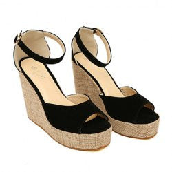Pastoral Style Weaving and Suede Design Women's Sandals