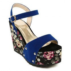 Party Floral Print and Suede Design Women's Sandals