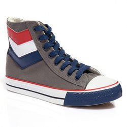 British Style Men's Canvas Shoes With Splice and Lace-Up Design