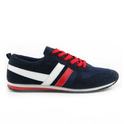Casual Men's Athletic Shoes With Splice and Lace-Up Design