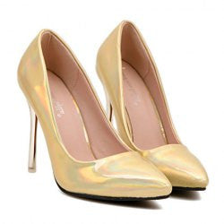 Concise Women's Pumps With Stiletto Heel and Pointed Toe Design