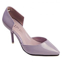Work Women's Pumps With Pointed Toe and Hollow Out Design