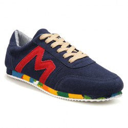 Fashion Style Men's Athletic Shoes With Suede and Color Matching Design