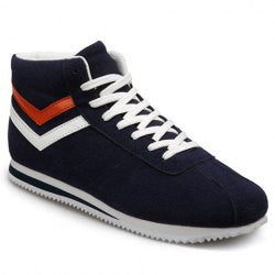 Preppy Men's Athletic Shoes With Splice and Lace-Up Design
