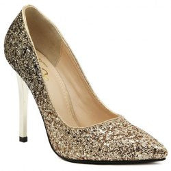 Gorgeous Pointed Toe and Sequined Design Women's Pumps