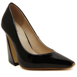 Graceful Women's Pumps With Solid Color and Patent Leather Design