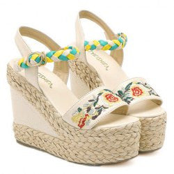 Ethnic Style Embroidery and Weaving Design Women's Sandals