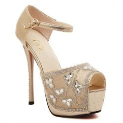 Elegant Rhinestones and Sexy High Heel Design Women's Sandals