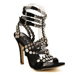 Sexy Rivets and Suede Design Women's Sandals