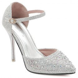 Stunning Rhinestones and Pointed Toe Design Women's Sandals