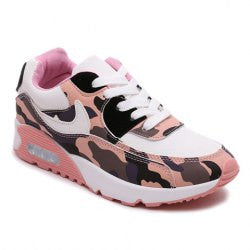 Trendy Color Block and Camouflage Pattern Design Women's Athletic Shoes