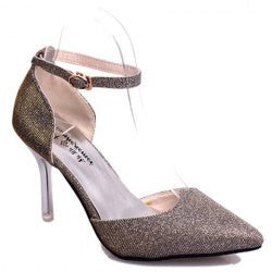 Graceful Sequined and Two-Piece Design Women's Pumps