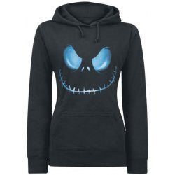 CLEARANCE Active Black Hooded Skull Printed Pullover Hoodie For Women