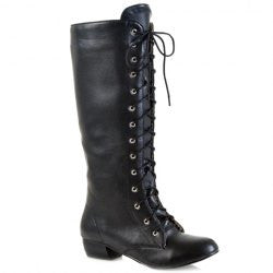 Vintage Lace-Up and Low Heel Design Women's Mid-Calf Boots