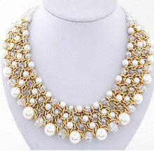 $15 mixed order free shipping big chunky necklaces women fashion necklace 2015 handamde crystal beads multi layer necklace