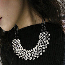 $15 mixed order free shipping wedding Necklace wholesale Fashion statement luxury necklace crystal party choker necklace