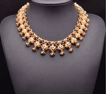 2014 New Arrival za Brand Vintage Necklace Gem Crystal Luxury Statement Crystal Necklace Women Good Quality 9312
