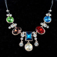 2014 New perfume women Fashion Colourful Mixed Shaped Big Crystal Necklaces & Pendants Jewelry Statement Collar Necklace
