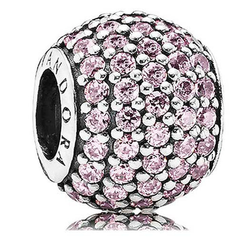 DROPKICKS STOCK ITEM: Authentic Pandora Jewelry - Pave Lights Pastel Pink CZ