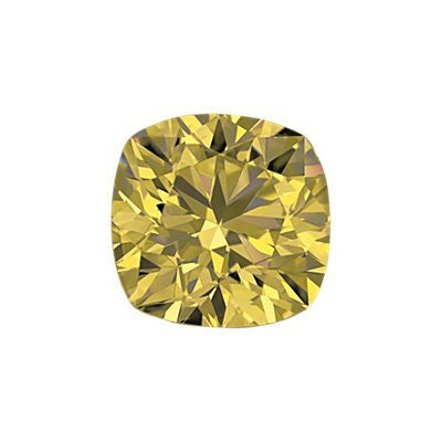 1.01-Carat Yellow Cushion Cut Diamond