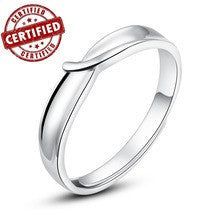 (1 pieces /men) Certified 100% Solid Sterling silver 925 18k gold plated Adjustable men's promise ring inchLove Knotinch