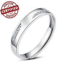 (1 pieces /men) 100% Solid Sterling silver 925  18k gold plated Promise  Open engagement Ring  for male inchWishinch