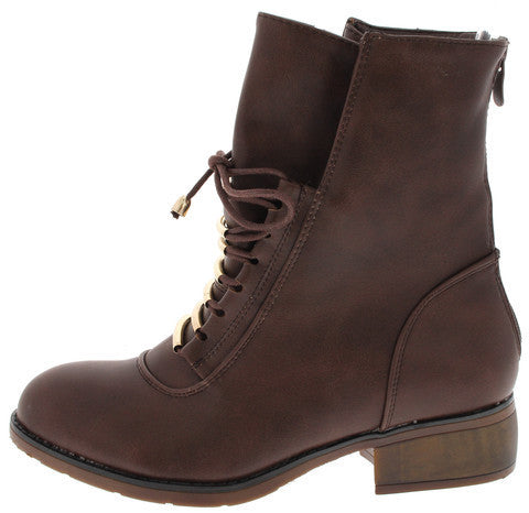 BECKETT BROWN COMBAT ANKLE BOOT