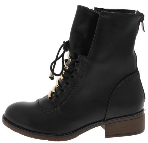 BECKETT BLACK COMBAT ANKLE BOOT