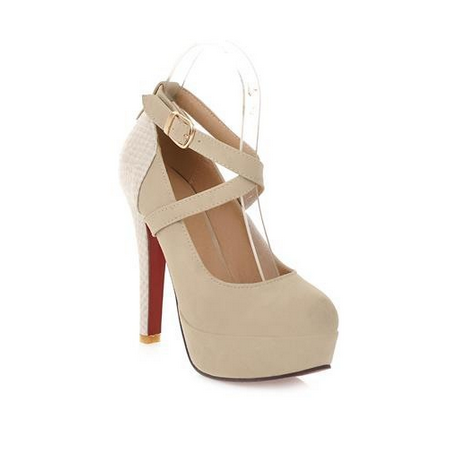 DROPKICKS CANADA WHOLESALE FOOTWEAR LIGHT BEIGE MARINA-01 HIGH HEEL PUMPS SHOES STILETTOS